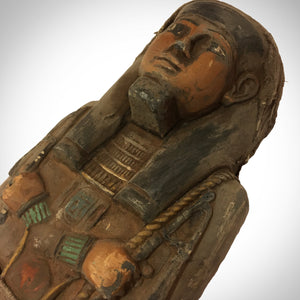 Authentic, Oversized Xxl Carved Ushabti Tomb Statue Dating From 664-525 Bc