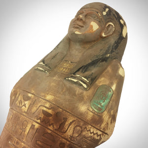 Authentic, Oversized Xl Carved Ushabti Tomb Statue Dating From 664-525 Bc