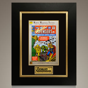 The Avengers #1 Marvel Milestone Hand-Signed Comic Book By Stan Lee Custom Frame