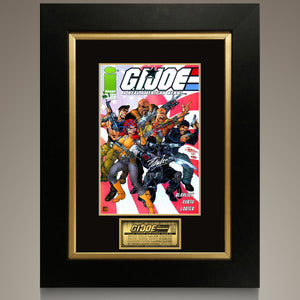 G.I. Joe A Real American Hero #1 2001 Comic Book Hand-Signed By Stan Lee, Bruce Willis, The Rock & Channing Tatum Custom Frame