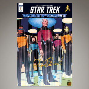 Star Trek Waypoint #1 Comic Book Hand-Signed By Patrick Stewart Custom Frame