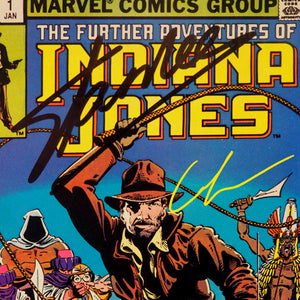 Indiana Jones- The Further Adventures Of Indiana Jones #1 1982 Comic Book Hand-Signed By Harrison Ford, George Lucas & Stan Lee Custom Frame