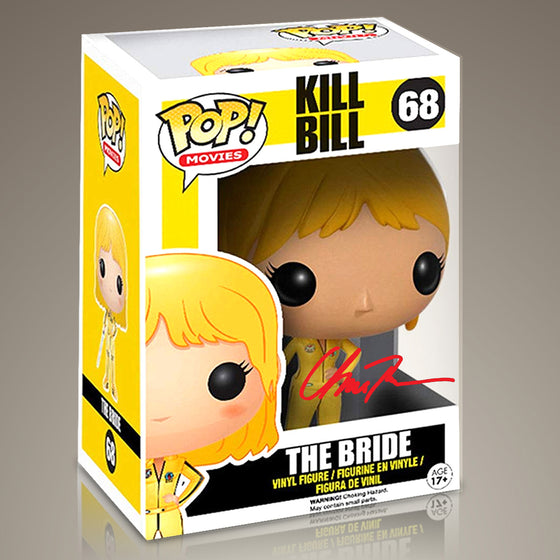 Kill Bill- RARE 'The Bride' Hand-Signed Funko POP by Uma Thurman