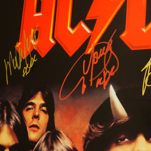Ac/Dc- Limited Edition Hand-Signed Poster by Band Members Custom Frame