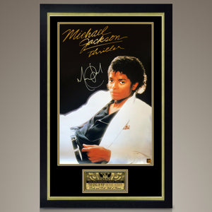 Michael Jackson - Hand-Signed Thriller Poster By Michael Jackson In A Custom Frame