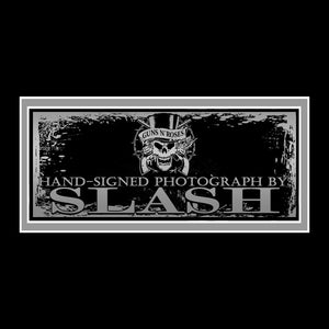 Guns N' Roses - Hand-Signed Slash With Guitar Photo By Slash Custom Frame
