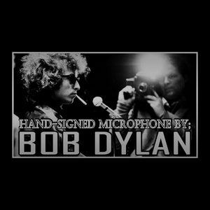 Bob Dylan - Hand-Signed Vintage Microphone By Bob Dylan Museum Display