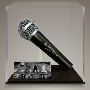 Beatles - Hand-Signed Microphone By Paul Mccartney Museum Display
