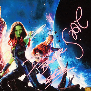 Guardians Of The Galaxy - Hand-Signed Photo & Mix Tape By Cast Members & Stan Lee Custom Frame