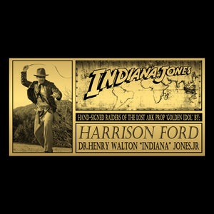 Indiana Jones - Hand-Signed Fertility Idol By Harrison Ford Museum Display