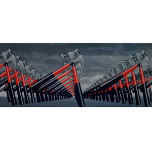 Pink Floyd - Hand-Signed The Wall Hammers By Roger Waters & David Gilmour Custom Museum Display