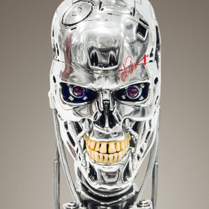 Terminator - Hand-Signed Endo Skull Head By Arnold Schwarzenneger Museum Display