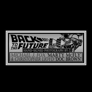 Back To The Future - Hand-Signed Marty With Delorean Photo & Vhs By Michael J. Fox & Christopher Lloyd