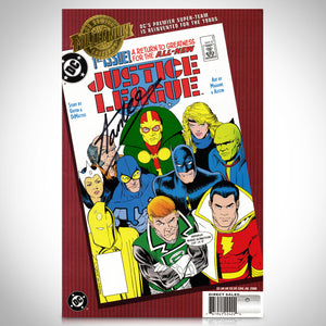 Justice League - #1 All New Justice League Hand-Signed Comic by Stan Lee Custom Frame