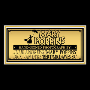 Mary Poppins- Hand-Signed Photo By Julie Andrews & Dick Van Dyke Custom Frame