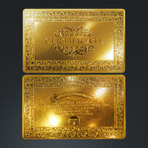 24K Gold Plated Playing Cards With Che Guevara Pattern