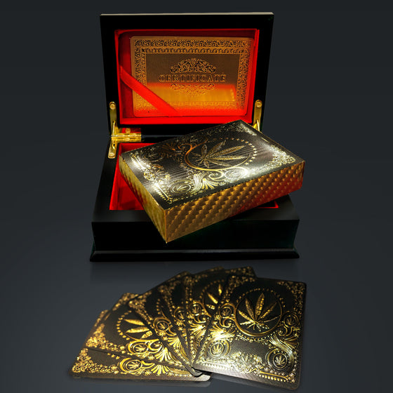 24K GOLD PLATED PLAYING CARDS // LEAF