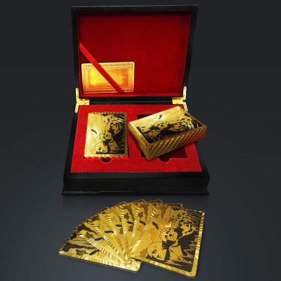 24K GOLD PLATED Playing Cards with Mount Rushmore Pattern