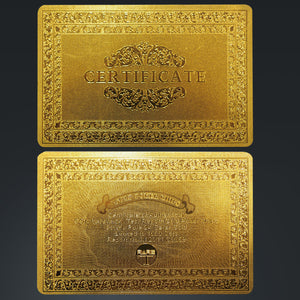 24K Gold Plated 'I'M Not Lucky, I'M So Good' Poker Chip Card Guard