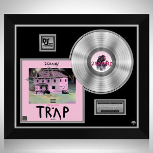 2 Chainz - Pretty Girls Like Trap Music Platinum LP Limited Signature Edition Studio Licensed Custom Frame
