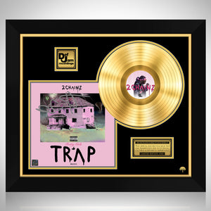 2 Chainz - Pretty Girls Like Trap Music Gold LP Limited Signature Edition Studio Licensed Custom Frame