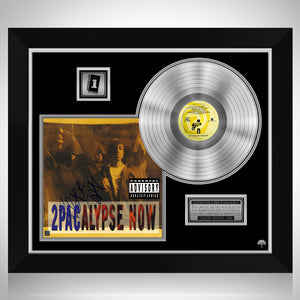 2Pac - 2pacalypse Now Platinum LP Limited Signature Edition Studio Licensed Custom Frame