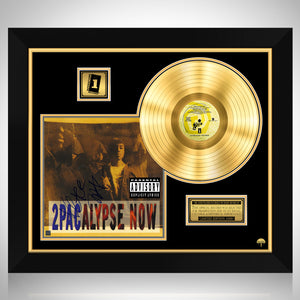 2Pac - 2pacalypse Now Gold LP Limited Signature Edition Studio Licensed Custom Frame