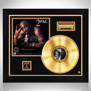 2 PAC All Eyez on Me Gold LP Limited Signature Edition Studio Licensed Custom Frame