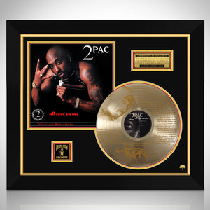 Tupac All Eyez On Me Gold LP Limited Biography Etched Collectors Edition Studio Licensed 2 Pac Custom Frame