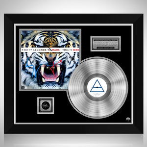 30 Seconds to Mars - This Is War Platinum LP Limited Signature Edition Studio Licensed Custom Frame