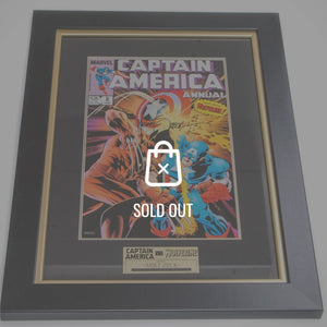 Rare-T Exclusive 'Cpt. America Vs Wolverine Signed Zeck Art Print' Custom Frame
