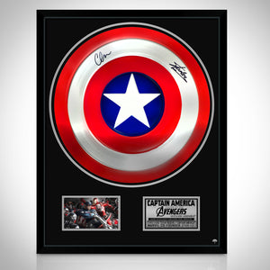 Captain America- Hand-Signed Shield By Chris Evans & Stan Lee Custom Frame
