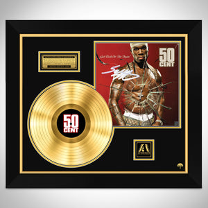 50 Cent Get Rich Or Die Tryin Gold LP Limited Signature Edition Studio Licensed Custom Frame