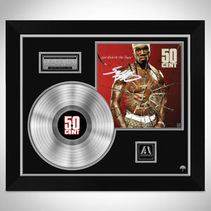 50 Cent - Get Rich Or Die Tryin Platinum LP Limited Signature Edition Studio Licensed Custom Frame