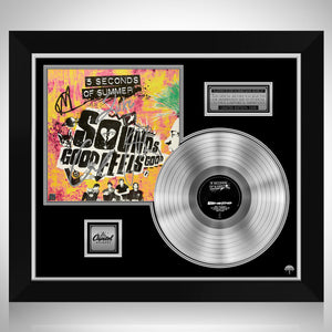 5 Seconds of Summer - Sounds Good Feels Good Platinum LP Limited Signature Edition Studio Licensed Custom Frame