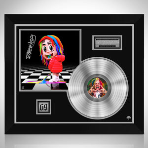 6ix9ine Dummy Boy Platinum LP Limited Signature Edition Studio Licensed Custom Frame