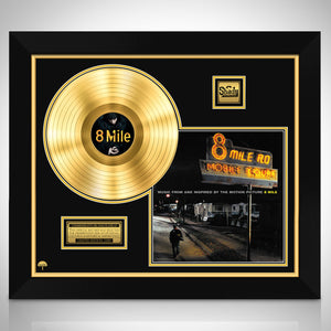 8 Mile 'Soundtrack'- Limited Collectors' Edition Studio Licensed Gold Lp Custom Frame