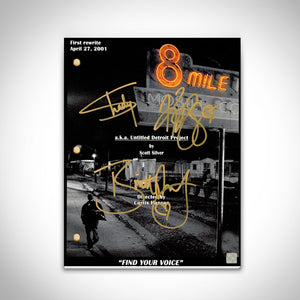 8 Mile Eminem Movie Script Limited Signature Edition Studio Licensed Custom Frame