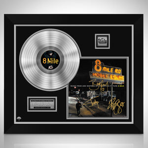 8 Mile Soundtrack Platinum LP Limited Signature Edition Studio Licensed Custom Frame