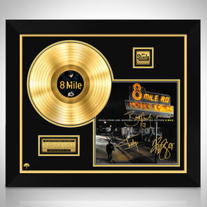 8 Mile Soundtrack Gold LP Limited Signature Edition Studio Licensed Custom Frame