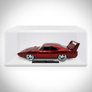 Fast & Furious 7 Dom's 1969 Daytona Charger 1:24 Die Cast Car Custom Museum Display