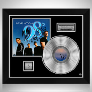 98 Degrees - Revelation Platinum LP Limited Signature Edition Studio Licensed Custom Frame