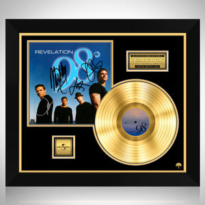 98 Degrees - Revelation Gold LP Limited Signature Edition Studio Licensed Custom Frame
