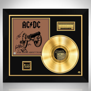 AC/DC For Those About to Rock Limited Signature Edition Studio Licensed Gold LP Custom Frame