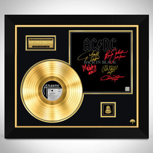 AC/DC Back In Black Gold LP Limited Signature Edition Studio Licensed Custom Frame