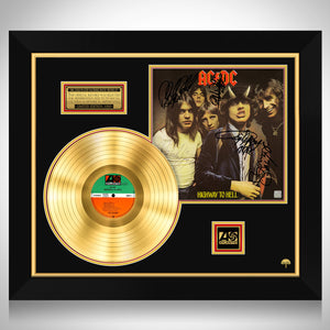 AC/DC Highway to Hell Gold LP Limited Signature Edition Studio Licensed Custom Frame