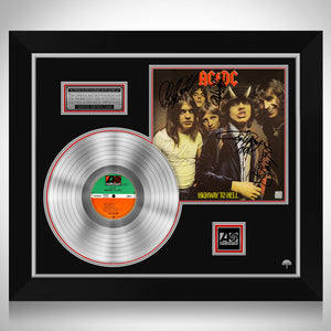 AC/DC Highway to Hell Platinum LP Limited Signature Edition Studio Licensed Custom Frame