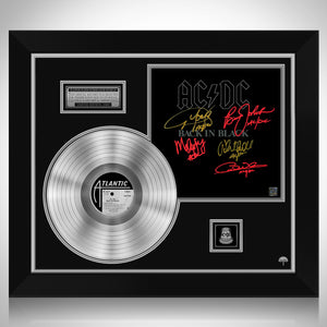 AC/DC Back In Black Platinum LP Limited Signature Edition Studio Licensed Custom Frame