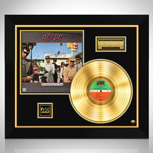 AC/DC Dirty Deeds Done Dirt Cheap Limited Signature Edition Studio Licensed Gold LP Custom Frame