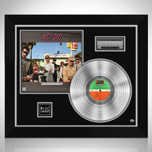 AC/DC Dirty Deeds Done Dirt Cheap Limited Signature Edition Studio Licensed Platinum LP Custom Frame